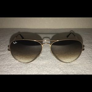 Large gold authentic ray bans!